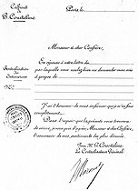 Humorous printed form of Georges Courteline's office (1858-1929), French writer. © Roger-Viollet