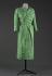 "Hubert de Givenchy (1927-2018). ""Ecosse"" afternoon dress made of green silk linen (?) and costa peas pattern designed by Brossin de Méré on an ivory silk lining. 1953. Galliera, musée de la Mode de la Ville de Paris. © Eric Emo / Galliera / Roger-Viollet"
