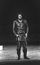 """Otello"" by Giuseppe Verdi, directed by Georg Solti. Placido Domingo. Opéra de Paris, June 1976.  © Colette Masson/Roger-Viollet"