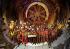 Construction du tunnel sous la Manche. Equipes d'ouvriers anglais et français fêtant leur arrivée à Folkstone, terminal ferroviaire anglais du tunnel sous la Manche. 20 novembre 1990.  © PA Archive / Roger-Viollet