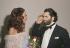 Marisa Berenson (née en 1947), actrice américaine, et Karl Lagerfeld (1933-2019), couturier allemand. © Jack Nisberg / Roger-Viollet