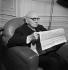 Paul Claudel (1868-1955), écrivain français. Paris, 1948-1949. © Boris Lipnitzki / Roger-Viollet