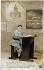 Ecolier. Carte postale fantaisie. Vers 1910. © Roger-Viollet