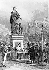 Inauguration de la statue de Gutenberg (vers 1400-1468), imprimeur allemand. Strasbourg (Bas-Rhin), juin 1840. Gravure, 1850. © Roger-Viollet