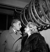 Jacques Anquetil (1934-1987), French racing cyclist, and Janine Lepetit, the year they got married. Paris, December 1958. © Roger Berson/Roger-Viollet
