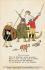 """Guerre 1914-1918. """"Nous jouon à l aguerre mondiale !"""" Affiche de propagande pour la croix rouge et le bureau d'aide sociale de guerre. Vienne (Autriche), vers 1915. © Imagno/Roger-Viollet"""