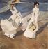 "Joaquin Sorolla (1863-1923). ""Promenade au bord de la mer"". Huile sur toile, 1907. Madrid (Espagne), musée Sorolla. © Iberfoto / Roger-Viollet"