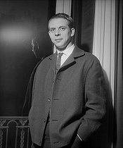 Karlheinz Stockhausen (1928-2007), German conductor and composer. Paris, January 1960. © Boris Lipnitzki/Roger-Viollet