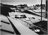 Les toits des ateliers d'ameublement sous la neige, rue Sedaine. Paris (XIème arr.), 1969. Photographie de Léon Claude Vénézia (1941-2013). © Léon Claude Vénézia/Roger-Viollet
