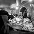 Salvador Dali, Melina Mercouri, Vittorio de Sica. Paris, Hôtel Meurice, 1972. © Roger-Viollet