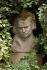 Jardin de la Maison de Balzac : buste d'Honoré de Balzac (1799-1850), écrivain français. Paris (XVIe arr.), 2007.  © Stéphane Piera/Maison de Balzac/Roger-Viollet