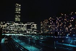La Tour Montparnasse et la gare de nuit. Paris (XIVème arr.), octobre 1973. Photographie de Léon Claude Vénézia (1941-2013). © Léon Claude Vénézia/Roger-Viollet