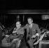 """Igor Stravinski et Jean Cocteau assistant à une répétition de """"Oedipus Rex"""". Paris, théâtre des Champs-Elysées, mai 1952. © Studio Lipnitzki / Roger-Viollet"""