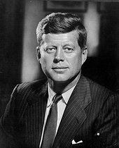 John Fitzgerald Kennedy (1917-1963), American statesman. President of the United States from 1961 to 1963. © US National Archives / Roger-Viollet