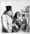 """""""Paris grippé"""", caricature d'Honoré Daumier. Lithographie de Destouches. B.N.F. © Roger-Viollet"""