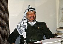 Yasser Arafat (1929-2004), leader of the Palestine Liberation Organization. Baghdad (Iraq), January 1991. © Françoise Demulder / Roger-Viollet