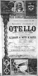 "Program playbill for ""Otello"" by Giuseppe Verdi, performed at the Nice Municipal Casino. © Roger-Viollet"