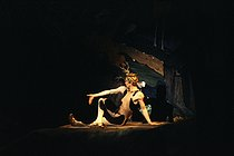 """L'Après-midi d'un faune"" (The Afternoon of a Faun), composed by Claude Debussy. Choreography by Vaslav Nijinsky. Rudolf Nureyev. Théâtre musical de Paris, January 1982. © Colette Masson / Roger-Viollet"
