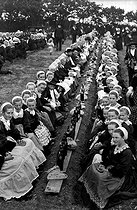 Breton Wedding in Cornouaille. Feast of 2000 persons. © Roger-Viollet