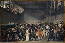 Attributed to Jacques Louis David (1748-1825). The Tennis Court Oath, on June 20, 1789. Oil on canvas. Paris, musée Carnavalet. © Musée Carnavalet/Roger-Viollet