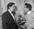 Alain Delon and Gilbert Bécaud at the Olympia. Paris, March 1962. © Studio Lipnitzki / Roger-Viollet