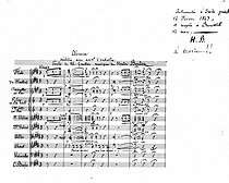"""Score of """"Absence"""", melody by Hector Berlioz on lyrics written by Théophile Gautier (1811-1972), French composer. Composed in Dresden in 1843 for Maria Reccio, whom he married in 1854. © Roger-Viollet"""