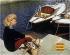 """Nadeau. """"Appareils Kodak film. Jeune femme assise, dans un port"""". Affiche,  1960. Paris, Bibliothèque Forney. © Bibliothèque Forney / Roger-Viollet"""