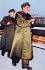 Mao Zedong (1893-1976), homme d'Etat chinois, suivi de Lin Biao (1908-1971), homme politique et militaire chinois, tenant le Petit Livre Rouge. © TopFoto/Roger-Viollet