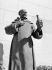 Léon Joseph Chavalliaud (1858-1921). Statue of Dom Pierre Pérignon (1639-1715), Benedictine monk, inventor of the process permiting to obtain regular bubbles in the champagne's manufacture. Sainte-Menehould (France). © CAP / Roger-Viollet