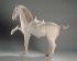 """""""Cheval en terre cuite"""". Chine, époque Tang (618-907). Paris, musée Cernuschi. © Musée Cernuschi/Roger-Viollet"""