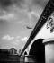 Plongeon du Pont d'Iéna. Paris (XVIème arrondissement), été 1944. © Roger-Viollet