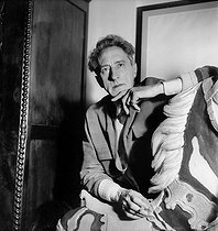 Jean Cocteau (1889-1963), French writer, dramatist and director. Milly-la-Forêt (France), 1951. © Boris Lipnitzki / Roger-Viollet