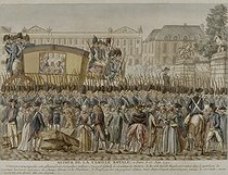 The royal family back in Paris, on June 25, 1791. Paris, musée Carnavalet.  © Musée Carnavalet/Roger-Viollet