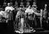 Le pape Pie XII (1876-1958), livrant son message de paix au monde au lendemain de son élection. Chapelle Sixtine (Vatican), mars 1939. © TopFoto / Roger-Viollet