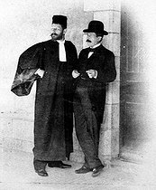 The Dreyfus affair. The lawsuit of Rennes. On 1899. Mister Fernand Labori and the colonel Marie-Georges Picquart. © Roger-Viollet