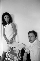 Florinda Bolkan (born in 1941), Brazilian actress, and Jean-Louis Trintignant (born in 1930), French actor and director, 1968. Photograph by Georges Kelaïditès (1932-2015). © Georges Kelaïditès / Roger-Viollet