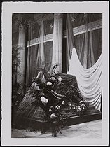 Corpse of Jean Jaurès (1859-1914), French politician, transferred to the Pantheon. The catafalque. Paris, on November 23, 1924. © Photo Rap/Roger-Viollet