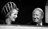 Margaret Thatcher (1925-2013), femme politique anglaise, et Edward Heath (1916-2005), Premier ministre anglais, lors de l'ouverture de la conférence du parti conservateur. Londres (Angleterre), 7 octobre 1970. © PA Archive / Roger-Viollet