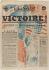 """Journal """"Libération Soir"""" (Dernière Heure de paris) du 8 mai 1945. Papier imprimé, 1945. Musée du Général Leclerc de Hauteclocque et de la Libération de Paris, musée Jean Moulin. © Mémorial Leclerc - Musée Jean Moulin / Roger-Viollet"""