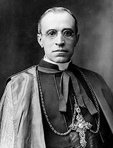 Monseigneur Eugenio Pacelli (1876-1958), Italian cardinal, future pope under the name of Pie XII. © Roger-Viollet
