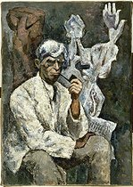 Germaine Nordmann (1902-1995) Portrait of Ossip Zadkine, oil on canvas, 1954. Paris, musée d'Art moderne. © Musée d'Art Moderne/Roger-Viollet