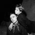 """""""Andréa ou La fiancée du matin"""", pièce de Hugo Claus. Jean-Louis Trintignant et Annie Fargue. Paris, théâtre de l'Oeuvre, novembre 1955. © Studio Lipnitzki / Roger-Viollet"""