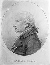 Edmé Quenedey des Riceys (1756-1830). Gaspard Monge (1746-1818), Count of Peluse, French mathematician. Engraving. © Roger-Viollet