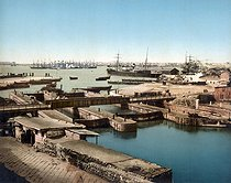 Panorama. Suez (Egypte), vers 1880-1890. © Roger-Viollet
