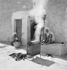 Coffee roasting. Imi n'Tanout  (Morocco), 1945. © Gaston Paris / Roger-Viollet