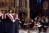Funérailles de Louis Mountbatten (1900-1979). Le prince Charles (né en 1948), prononçant un discours au pupitre. Londres (Angleterre), abbaye de Westminster, 1979.  © Ron Bell / PA Archive / Roger-Viollet