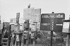 Boites à lettres du bidonville de Saint-Denis (Seine-Saint-Denis). 1967. © Georges Azenstarck / Roger-Viollet
