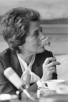Françoise Giroud (1916-2003), French journalist and writer, on May 28, 1973. © Jean-Régis Roustan/Roger-Viollet