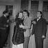 """En effeuillant la marguerite"", film de Marc Allégret. Nadine Tallier (de Rothschild), Daniel Gélin et Robert Hirsch. France, 24 février 1956. © Alain Adler / Roger-Viollet"