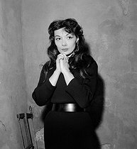 Juliette Gréco (born in 1927), French actress and singer. Festival in Dijon, June 1956. © Boris Lipnitzki/Roger-Viollet